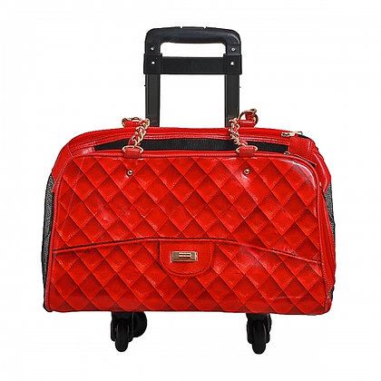 Coco Dog Carrier Red With Trolley