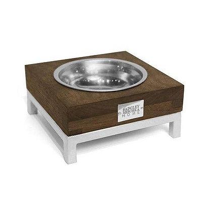 Designer Rommel Pet Bowl Silver