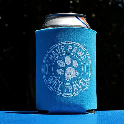Have Paws Will Travel Koozies