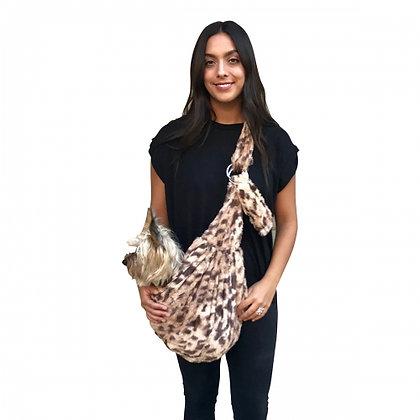 Fur Baby Adjustable Sling Dog Carrier Cheetah