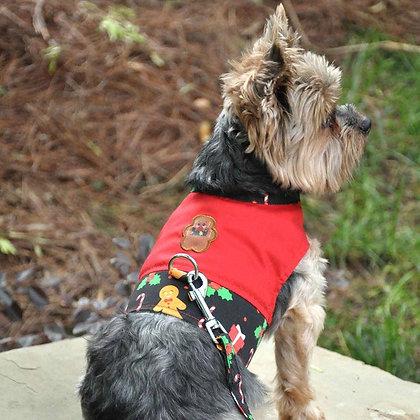 Gingerbread Dog Harness Vest & Leash