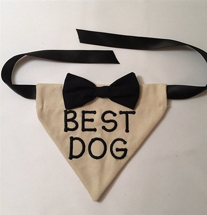 Best Man Dog Wedding Bandana