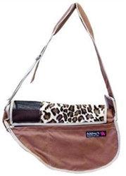 Leopard Lux Brown Fundle Dog Sling Carrier
