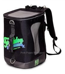 Touchdog Airline-Approved Dog Backpack Carrier Black