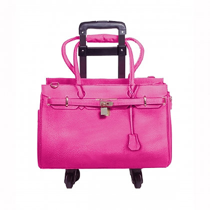 Madison Dog Carrier Pink With Trolley