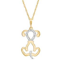 Diamond Pendant Gold