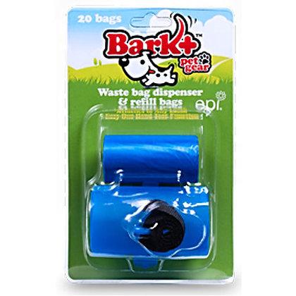 Bark Plus Dog Poop Bag Dispenser Blue