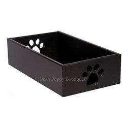 Solid Hardwood Antique Black Dog Toy  Box