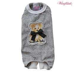 Teddy Bear Dog Pajamas Gray