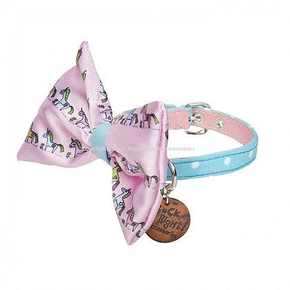 Dotty Pony Bow Dog Collar