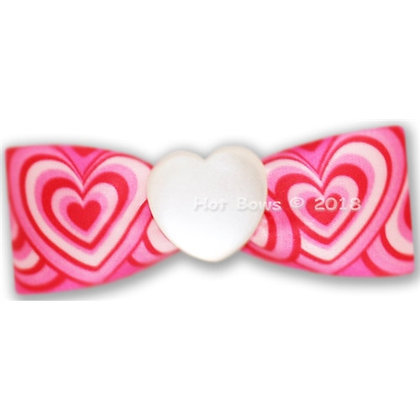 Happily Dog Hair Bow Pink