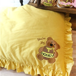 You're My Honey Dog Pillow Bed Yellow