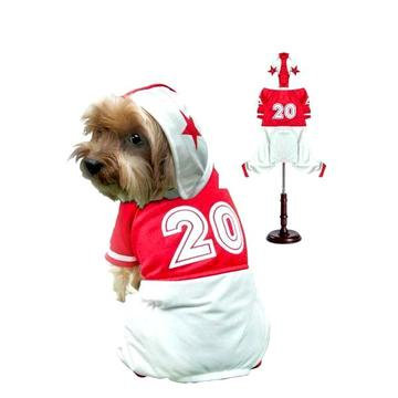 Football Player Dog Costume Red