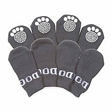 Rubberized Sole Dog Socks