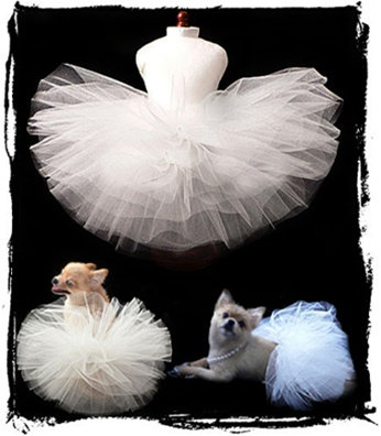 Classic White Wedding Dog Tutu