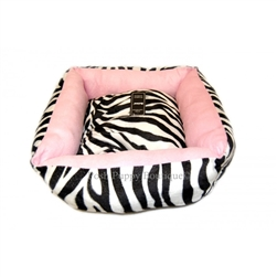 Plush Zebra Bed