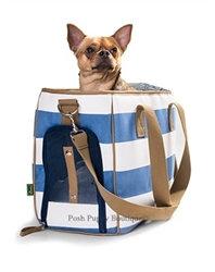 Ruegen Dog Carrier Blue and White Striped