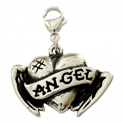 Angel Genuine Sterling Silver Dog Collar Charm