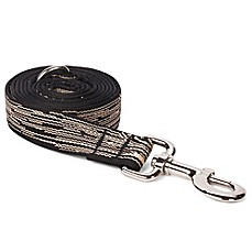 Faux Bois Leash Black