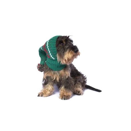 Christmas Snowflakes Dog Hat Green
