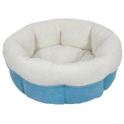 Blue Peanut Cuddle Cup Dog Bed