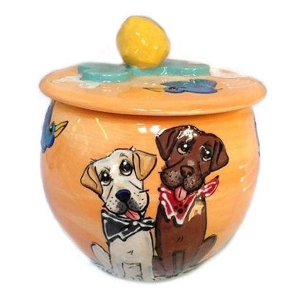 Labba Dabba Twosome Dog Treat Jar