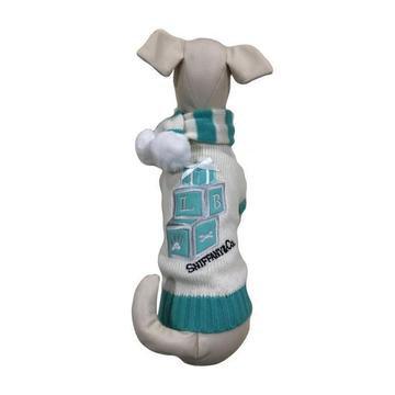 Sniffany Blocks Dog Sweater With Pompom Scarf
