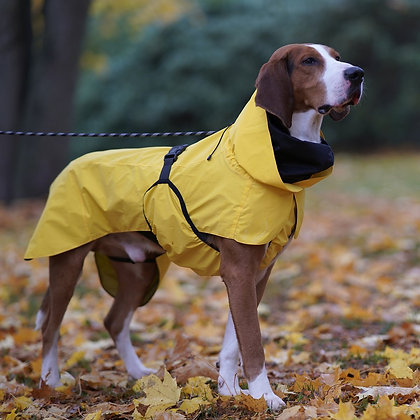 Visibility Dog Raincoat Yellow