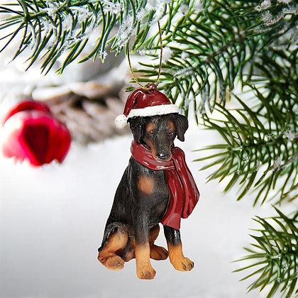 Doberman Christmas Tree Ornament