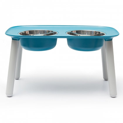 Elevated Dog Feeder Blue