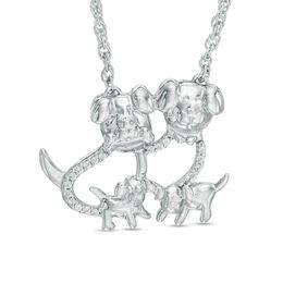 Diamond Dog Family Necklace
