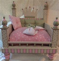 Personalized Princess Pink Designer Dog Bed