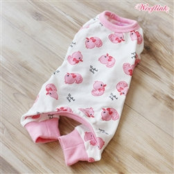 Ducky Ducky Dog Pajamas Pink