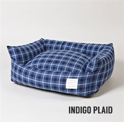 Indigo Plaid Bed