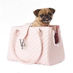 Light Pink Monogramme Dog Carrier