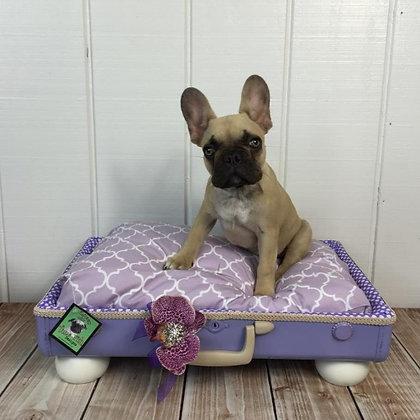 Suitcase Dog Bed Lavender