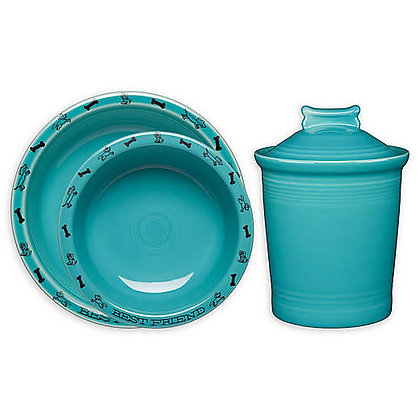 Fiesta® Dog Bowl and Treat Jar Collection