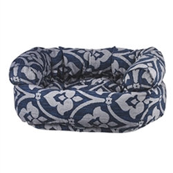 Double Donut Regency Microvelvet Dog Bed