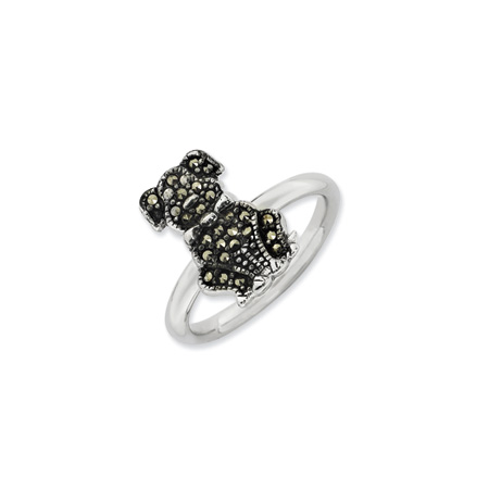 Marcasite Dog Ring