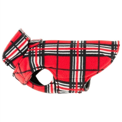 Winter Whistler Red Tartan Dog Jacket