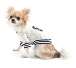 Sporty Lace Dog Tee White