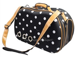 Venta Shell Perforated Collapsible Dog Carrier Dotted