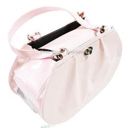 Pink Patent Martini Dog Bag Carrier Pink