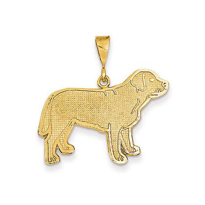 14K Yellow Gold Labrador Retriever Pendant