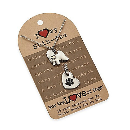 Shih Tzu Necklace Set for Dog Lovers