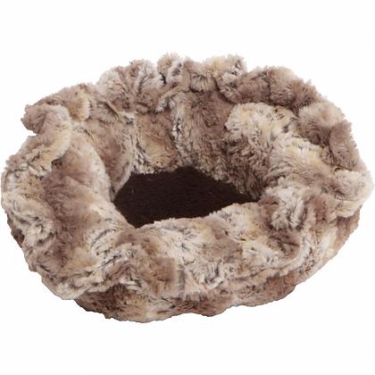 Faux Fur Custom Lily Pod Dog Bed