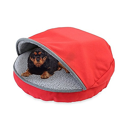 Precious Tails Felt Cave Pet Bed Red