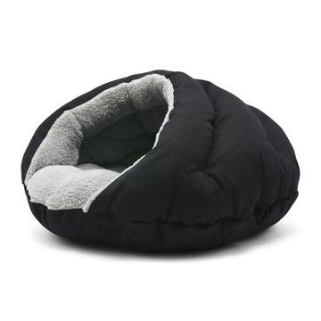 Burger Dog Bed Black