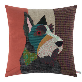 Hamish The Scottie Dog Throw Pillow