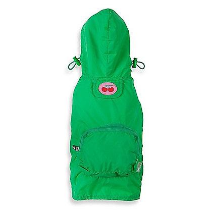 Fab Dog Cherry Dog Raincoat Green